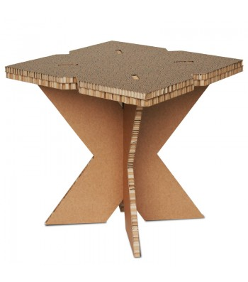 Tavolino in cartone X-TABLE avana