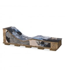 Chaise longue in cartone KISS DESIGN
