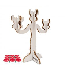 Candelabro 3D bianco