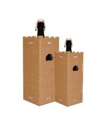 Portabottiglie in cartone BACCO avana