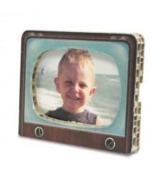 Portafoto in cartone VINTAGE TV avana