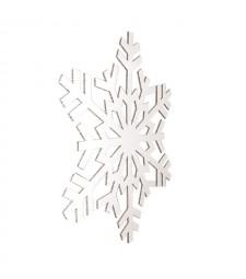 FIOCCO 3, decoro natalizio bianco