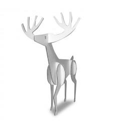 RENNA 3D - Decoro in cartone bianca