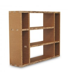 Libreria in cartone MULTI-VAN avana a 7 vani