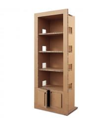 Libreria in cartone RETRO' avana