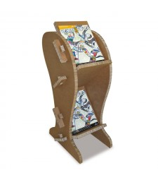 Porta Depliant in cartone CURVE avana