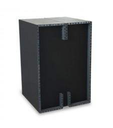 Sgabello Block nero/nero