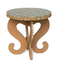 Tavolino in cartone RONDO' 1 avana