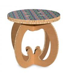 Tavolino in cartone RONDO' 2 avana
