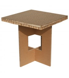 Tavolino in cartone QUADRO avana