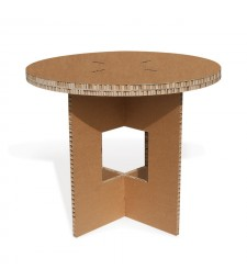 Tavolo in cartone TONDO avana