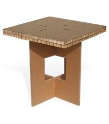 Tavolo in cartone QUADRO 2 avana